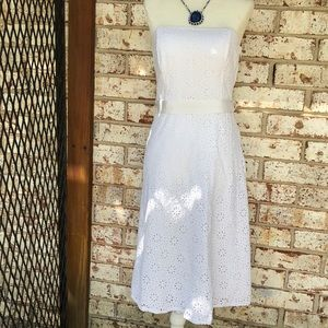 Banana Republic Eyelet Mini Dress size 4